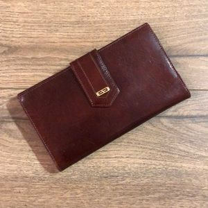 Vintage Gary's Leather Trifold Wallet